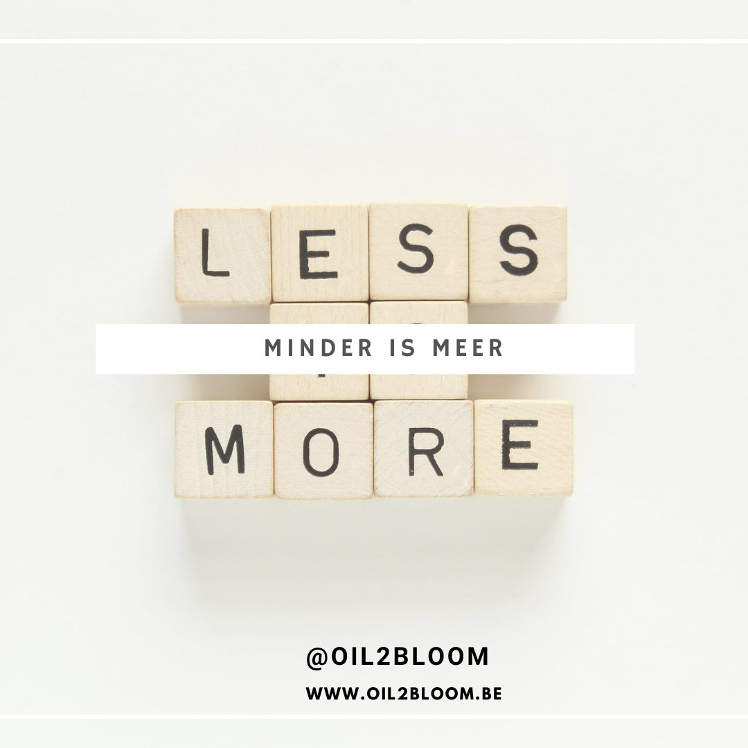 een droombord - less is more
