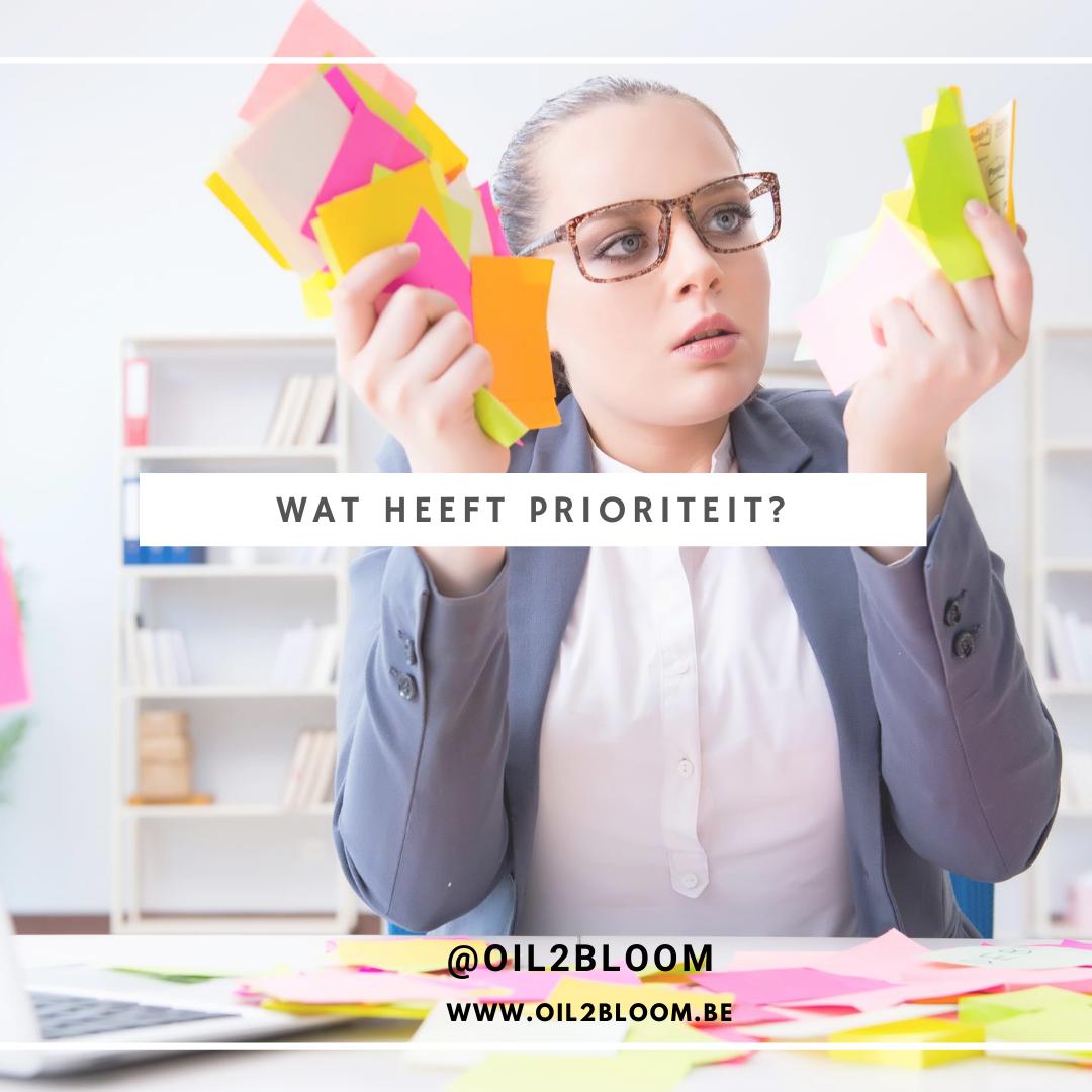 welke doelen hebben je prioriteit
